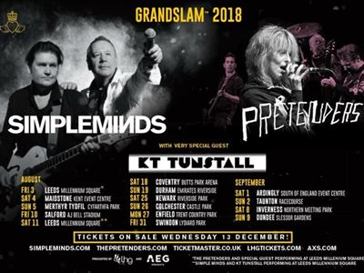 Simpleminds, The Pretenders & KT Tunstall - 05/08/2018