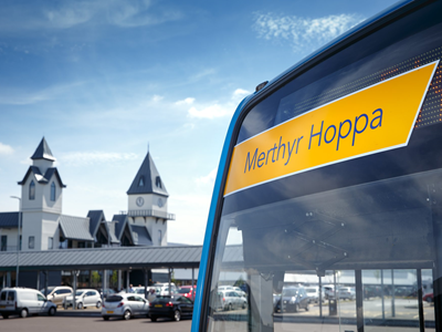 Hop on Merthyr Tydfil's free Saturday Hoppa bus!