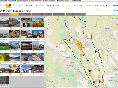 Interactive map pinpoints all Merthyr's visitor attractions