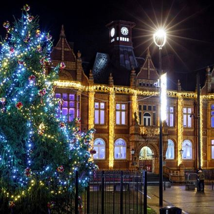 Star of fashion world lights up Merthyr Tydfil for Christmas